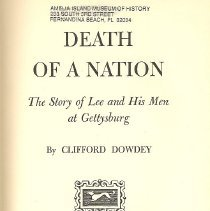 Image of Death of a Nation: The Story of Lee and His Men at Gettysburg - Book