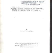 Image of Amelia Island, Florida:  a geographic study of recreation development - Book