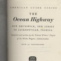 Image of The Ocean Highway: New Brunswick, New Jersey to Jacksonville, Florida - Book