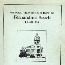 Image of Historic properties survey of Fernandina Beach, Florida   - Book