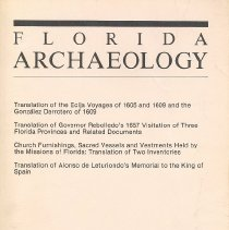 Image of Florida Archaeology Number 2, 1986 - Journal