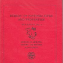 Image of Bureau of Historic Sites and Properties Bulletin No. 4