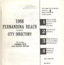 Image of 1988 Fernandina Beach City Directory