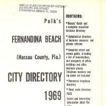 Image of 1969 Polk's Fernandina Beach (Nassau County, Fla.) City Directory  - Book