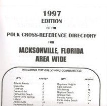 Image of 1997 edition of the Polk Cross-Reference Directory for Jacksonville, FL Area Wide - Book