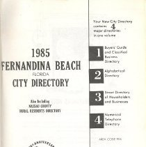 Image of 1985 Fernandina Beach Florida City Directory - Book