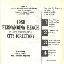 Image of 1980 Fernandina Beach (Nassau County, Fla.) City Directory - Book