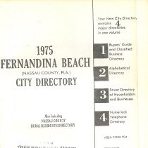Image of 1975 Fernandina Beach (Nassau County, Fla.) City Directory - Book