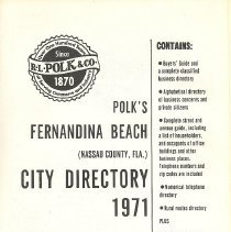 Image of Polk's Fernandina Beach (Nassau County, Fla.) City Directory 1971 - Book