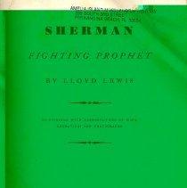 Image of Sherman, Fighting Prophet - Book