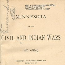 Image of Minnesota in the Civil and Indian Wars 1861-1865 - Book