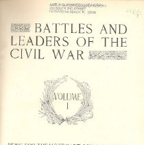 Image of Battles and Leaders of the Civil War, Volume I - Book