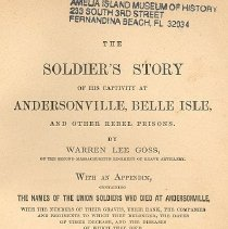 Image of The Soldier's Story of his captivity at Andersonville, Belle Isle and other rebel prisons - Book
