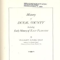 Image of History of Duval County Including Early History of East Florida - Book