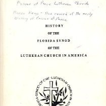 Image of History of the Florida Synod of the Lutheran Church in America - Book