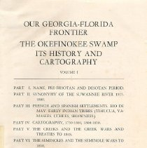 Image of Our Georgia-Florida Frontier: The Okefinokee Swamp - Book