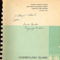 Image of Historic Resource Study--Cumberland Island Georgia and Historic Structure Report--Historical Data Section of the Dungeness Area - Book