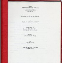 Image of A study of Seminole history - Manuscript