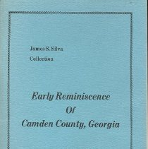 Image of Early Reminiscence of Camden County, Georgia: by an old Saint Marys boy in his 82nd year: 1914-1915 - Book