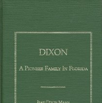 Image of Dixon: A Pioneer Family in Florida - Book