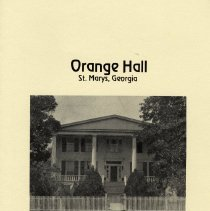 Image of Orange Hall: St. Marys, Georgia - Pamphlet