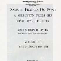 Image of Samuel Francis Du Pont: a selection from his Civil War letters