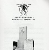 Image of Florida's Confederate monuments & markers 2004 - Book