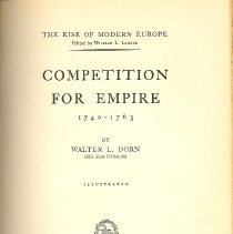 Image of Competition For Empire 1740-1763 - Book