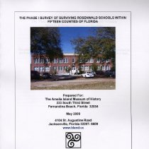 Image of The Phase I survey of surviving Rosenwald Schools within fifteen counties of Florida - Book