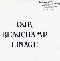 Image of Our Beauchamp Linage [sic] - Book