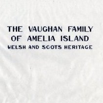 Image of The Vaughan Family of Amelia Island: Welsh and Scots heritage - Book