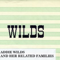 Image of Addie Wilds and her related families - Book