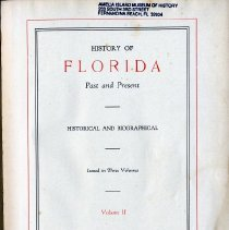 Image of History of Florida Past and Present, Vol. II - Book