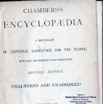 Image of Chambers's Encyclopedia Volume 4.