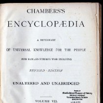 Image of Chambers' Encyclopedia, a dictionary of universal knownledge for the people; with maps and numerous wood engravings. Volume 7 - Book