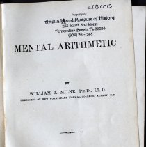 Image of A Mental Arithmetic. - Book