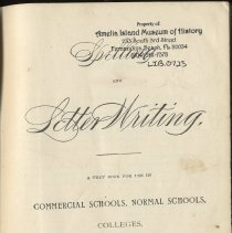 Image of Spelling and Letter Writing - Book