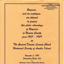Image of Photo-chronology of Rayonier in Nassau County from 1937-1939 - Book