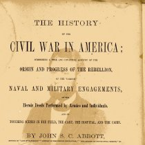 Image of The History of the Civil War in America - Book