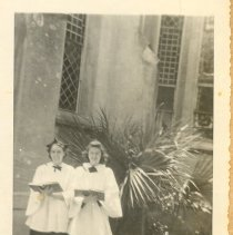 Image of 2 members of St Peter's  Choir - Print, Photographic