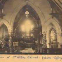 Image of Interior of St Peter's Borden-Jeffrey's wedding - Print, Photographic