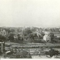 Image of View from watertower looking west after February 1892 - Print, Photographic
