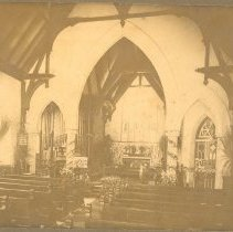 Image of St Peter's Interior -  Maybe Borden-Jeffreys Wedding; - Print, Photographic