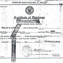 Image of Discharge certificate