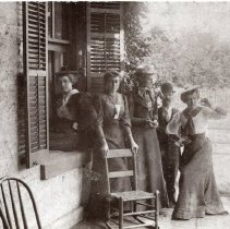Image of Group of women at C. W. Lewis house - Print, Photographic