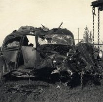 Image of Wrecked automobile - Print, Photographic