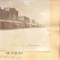 Image of Centre Street between 2nd and 3rd Street - Postcard