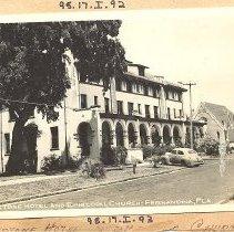 Image of Keystone Hotel and Episcopal Church - Postcard