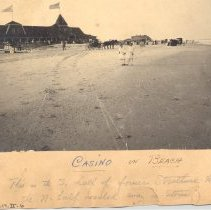 Image of Casino on the beach 1880 (?) - Print, Photographic