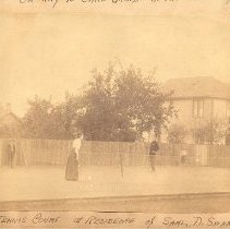 Image of Tennis courts at the residence of Samuel D Swann on 7th Street, - Print, Photographic